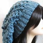 Oversized Slouchy Beanie in Aqua Blue