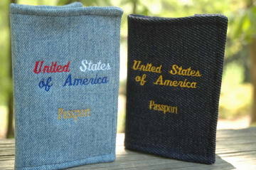 "Eco Passport Cover ""USA Passport"""