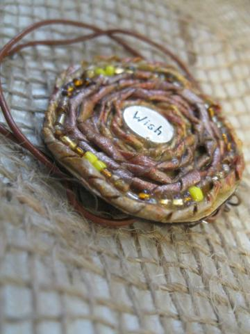 Wish Paper Bead Pendant