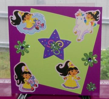 Handmade Card with Dora the Explorer