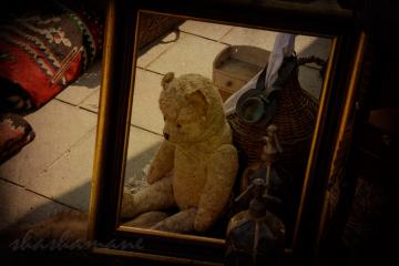 "Rescue me - Lost teddy bear needs loving home - 5 x 7"" fine art photography print"