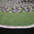 Round Purple and Green Blanket/Afghan