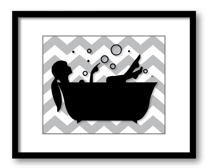 Grey And White Bathroom Wall Decor : Click to enlarge image