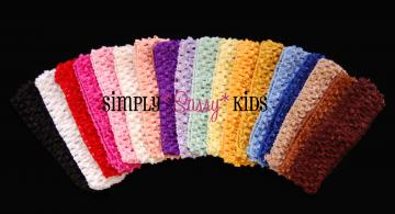 12 x 1.5inch Crochet Headbands - You choose colors/quantities