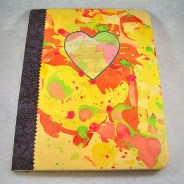 Journal - Composition Book, Sunny Heartsong - 9.75 x 7.5 inches, 100 sheets, college ruled