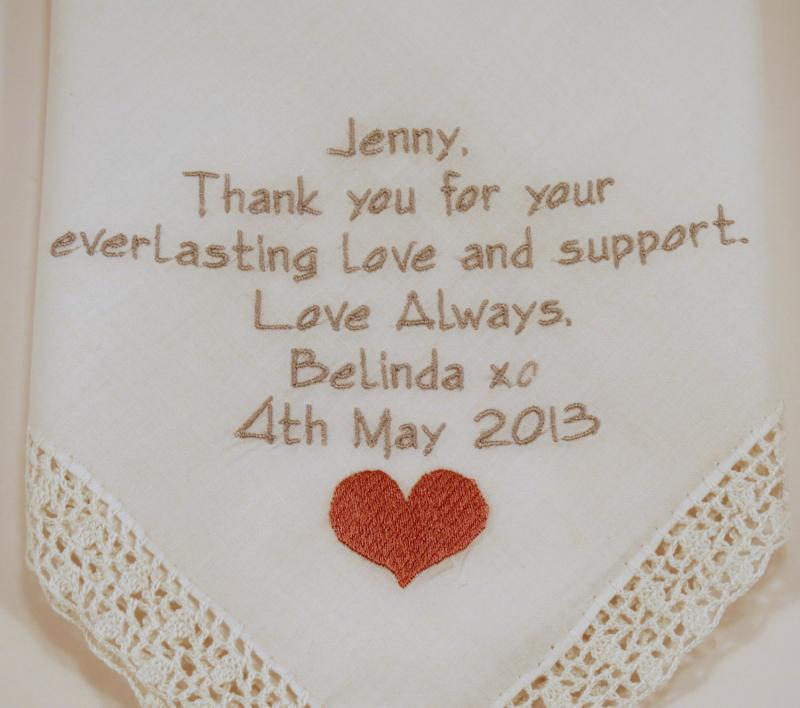Wedding Gift For Friend How Much : Wedding Hankerchiefs for Brides Maid maid of honor best friend ...