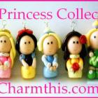 Polymer Clay THE PRINCESS COLLECTION Charms