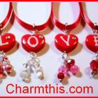 Heart   Initial Ribbon Necklace