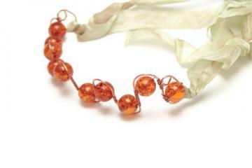Amber Headband - Tiara Headband - Wire Wrapped Headband - Ambrosia