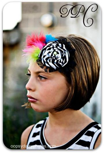 The Painted Zebra. Headband Fascinator