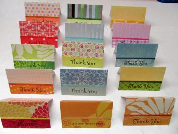 Mini Thank You Cards - Assorted - 15 cards