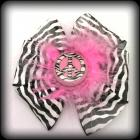 Zebra peace bottle cap bow