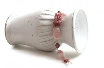Pink Opal Bracelet - Gemstone Bracelet - Pink Bracelet - Chunky Bracelet - Statement Bracelet