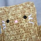 Tan Crochet Cat Plush Stuffed Toy