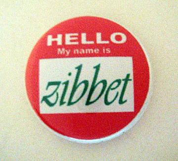 Hello My Name is Zibbet! Pin