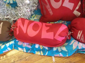 Christmas Noel Neck Roll Pillow