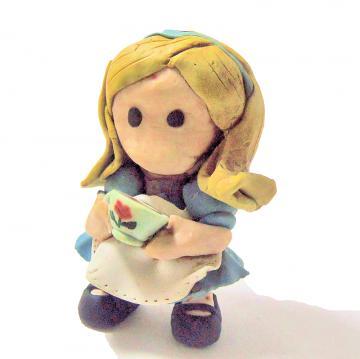 Alice in Wonderland Polymer Clay Figure