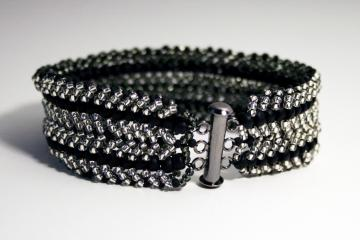 Slinky Reversible Smoke & Silver Bracelet