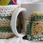 Mug and Soda Can Cozies Matching Set Crocheted Earth Tones