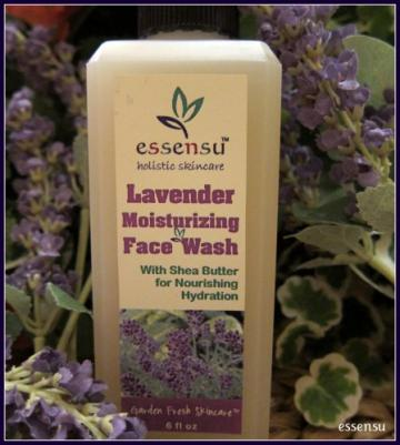 Lavender Moisturizing Organic Face Wash by essensu - 6 oz *No Parabens