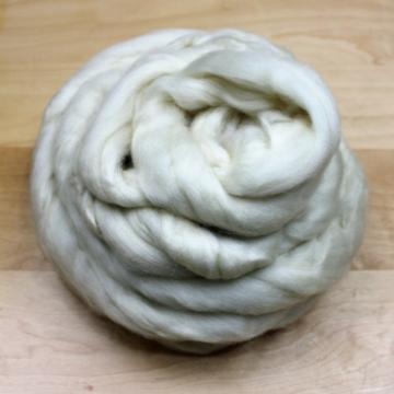 BFL Top Roving - Undyed Spinning or Felting Fiber  (8oz)