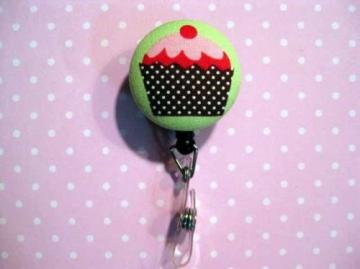 FUN BADGE - Clip-on Retractable Reel ID Badge Holder - ONE BIG CUPCAKE