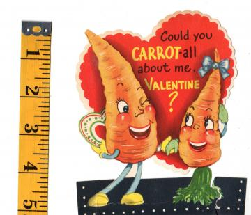 Vintage Valentine Could You Carrot all about me