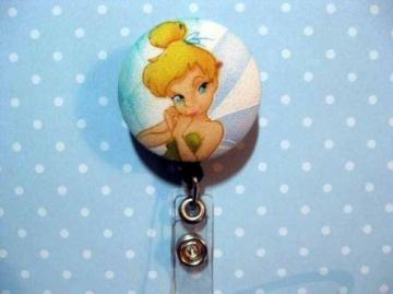 FUN BADGE - Clip-on Retractable Reel ID Badge Holder - TINKERBELL