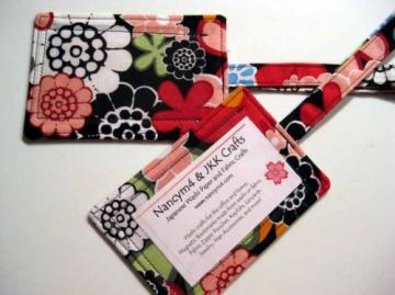 TAG A BAG - 2 Fabric Luggage ID Tags - FLORAL MANDALAY