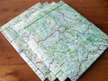 Recycled Map Stationery - 1961 Colorado