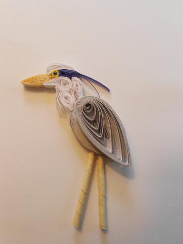 Quilled Blue Heron