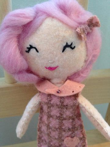 Sweet Felt Doll. Softie.