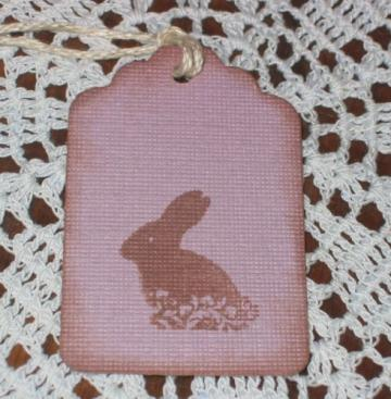  Chocolate Easter Bunny Plum Purple Hang Tags