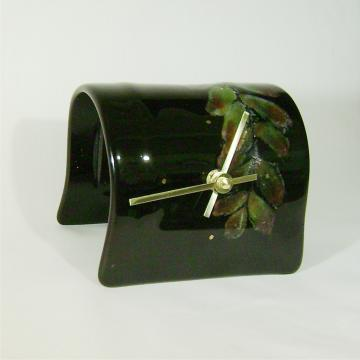 Fused Glass Clock by taj studio on Zibbet