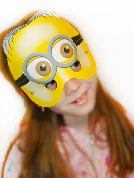 Printable despicable me props minion printables mask