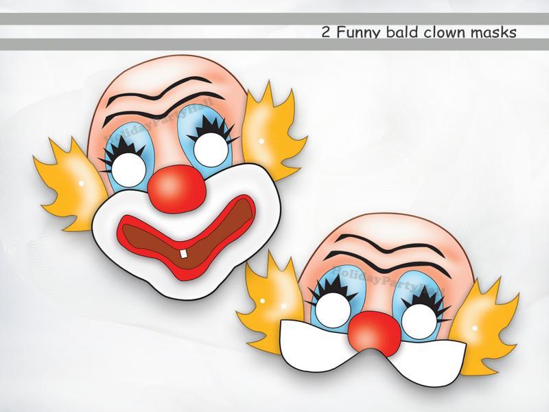 Как сделать маску клоуна из бумаги