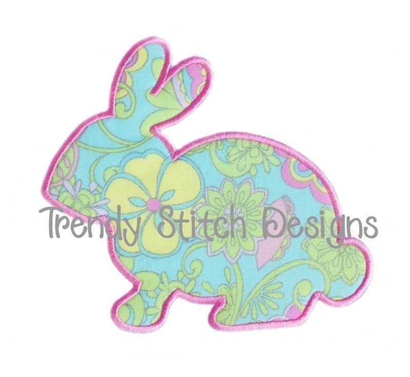Bunny applique design quotes