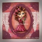A Cherished Angel Handmade Art  Greeting Card