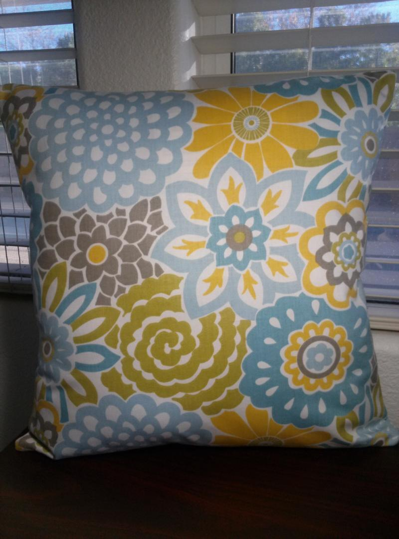 Modern Floral Print Pillow Covers 14x14