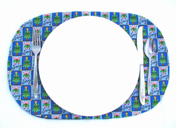 Four in One Placemat/Napkin Ring -- Nautical Theme