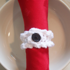 Crocheted Napkin Rings - White