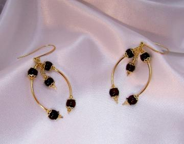 Red Tiger Eye Dangle Earrings