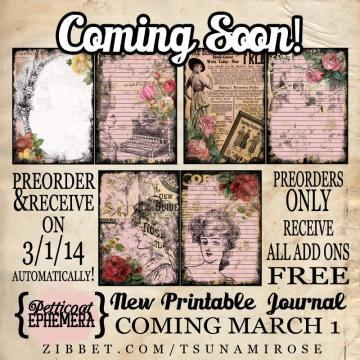 "PRE-ORDER ""Petticoat Ephemera"" Printable Journal Kit"