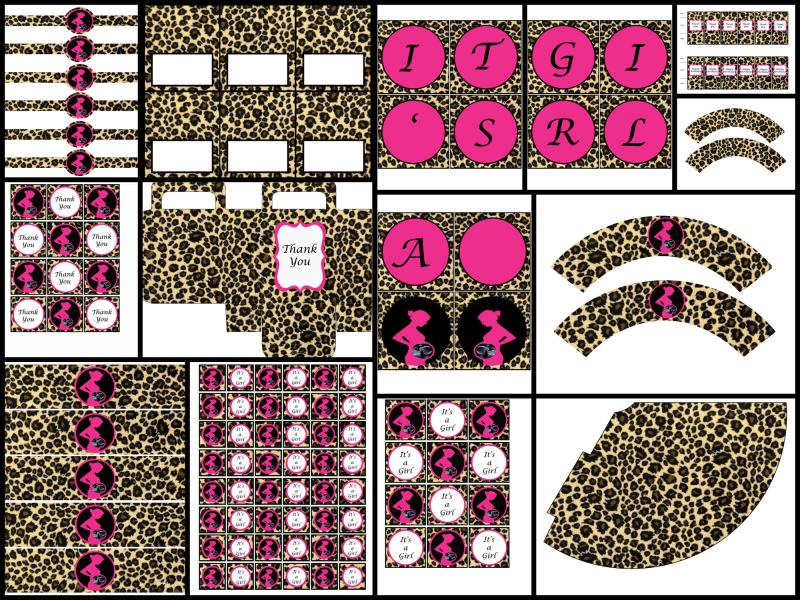 printable baby shower decorations leopard print it 39 s a girl
