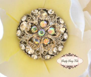 cl04clr CLEAR Gorgeous Embellishment Buttons
