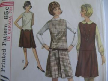 Vintage Junior and Misses One Piece Dress Pattern
