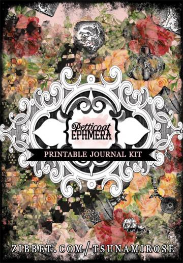 """Petticoat Ephemera"" Printable Journal Kit"