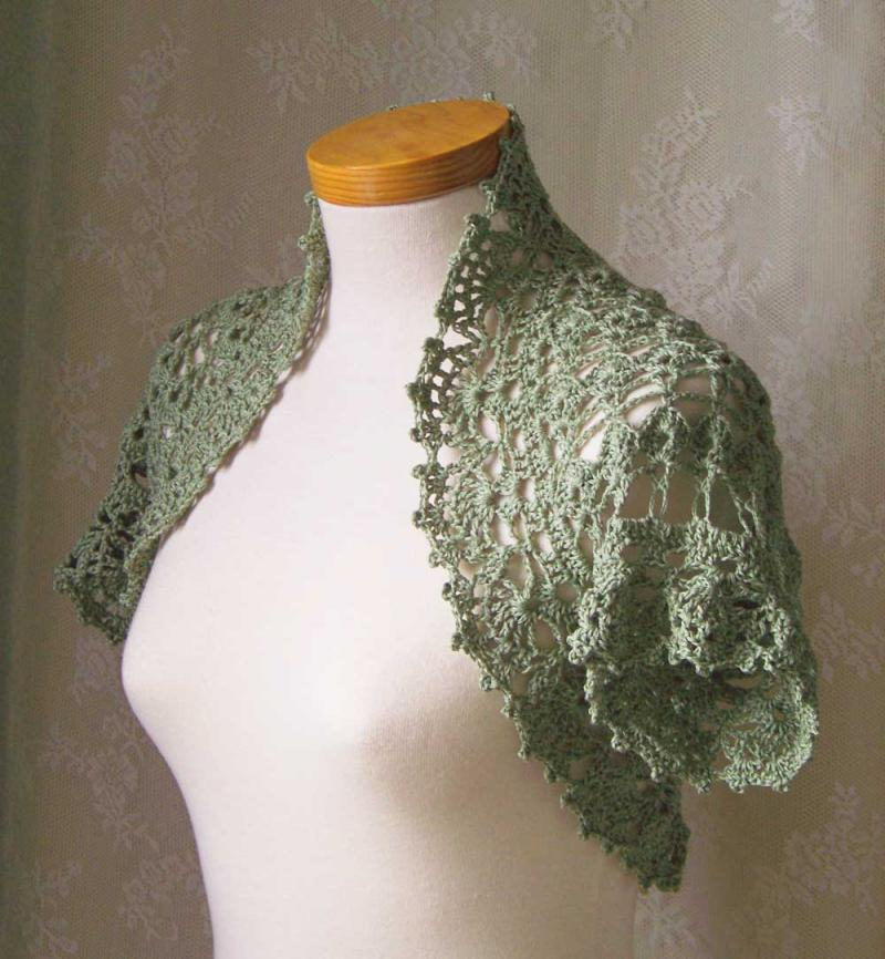 Crochet Bolero Pattern : Crochet pattern, Short sleeved shrug, PDF