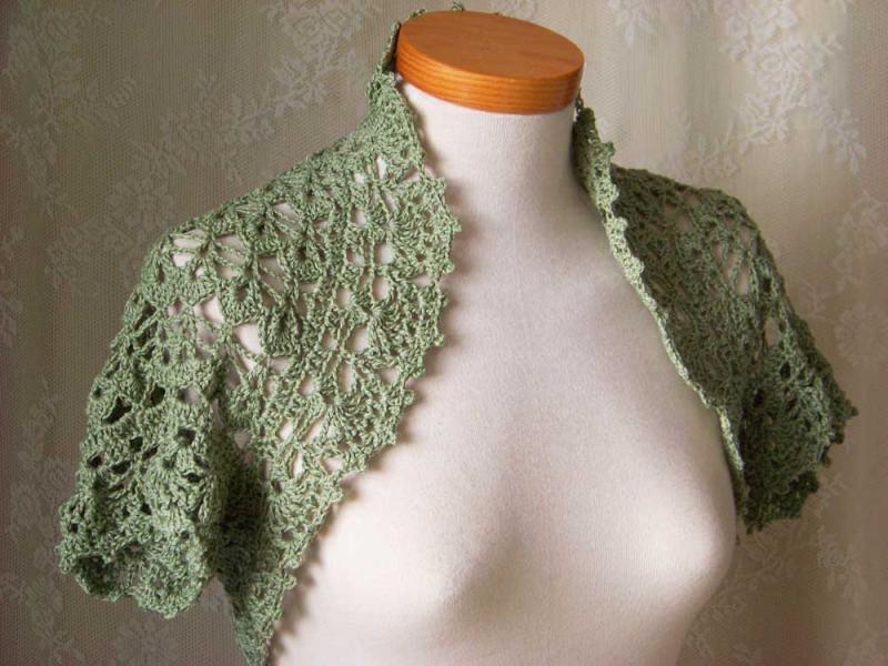 Crochet Bolero Pattern : Crochet pattern Short sleeved shrug PDF Images - Frompo