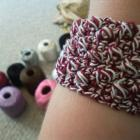 Two Color Crochet Bobble Bracelet